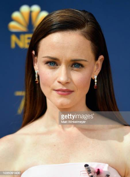 Alexis Bledel attends the 70th Emmy Awards at Microsoft Theater on September 17, 2018 in Los Angeles, California.
