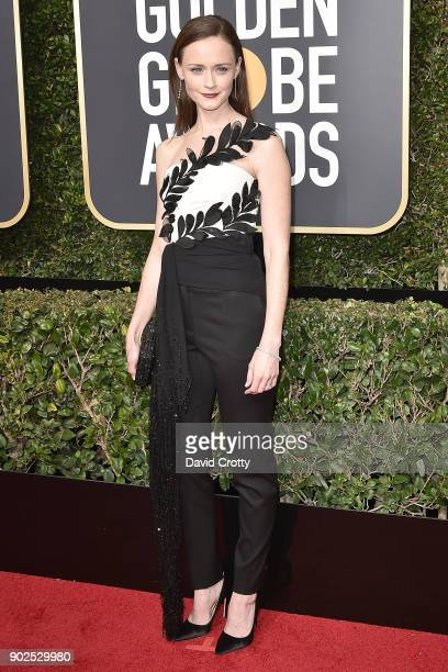Alexis Bledel attends the 75th Annual Golden Globe Awards Arrivals at The Beverly Hilton Hotel on January 7 2018 in Beverly Hills California