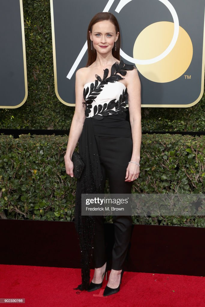 Alexis Bledel attends The 75th Annual Golden Globe Awards at The Beverly Hilton Hotel on January 7, 2018 in Beverly Hills, California.