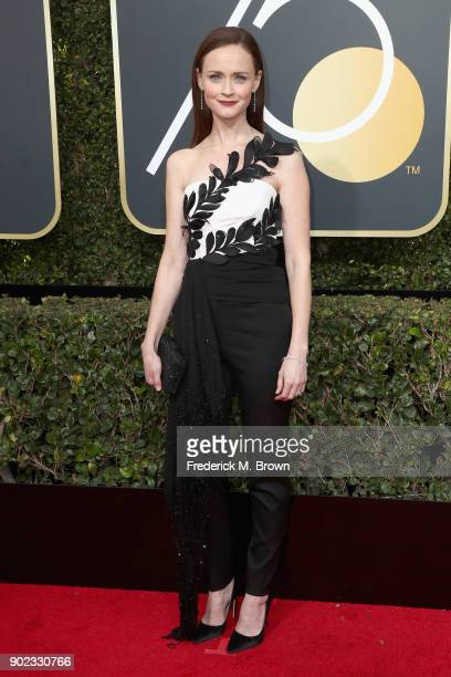 Alexis Bledel attends The 75th Annual Golden Globe Awards at The Beverly Hilton Hotel on January 7 2018 in Beverly Hills California