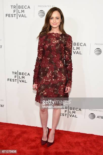 Alexis Bledel attends 'The Handmaid's Tale' Premiere at BMCC Tribeca PAC on April 21 2017 in New York City