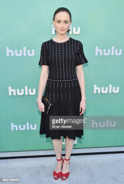 Alexis Bledel attends the Hulu Upfront 2018 Brunch at La Sirena on May 2, 2018 in New York City.
