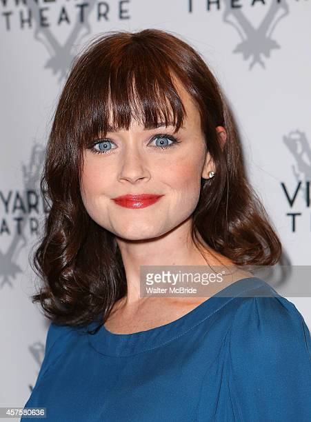Alexis Bledel attends the OffBroadway opening Night Performance of 'Billy Ray' at the Vineyard Theatre on October 20 2014 in New York City