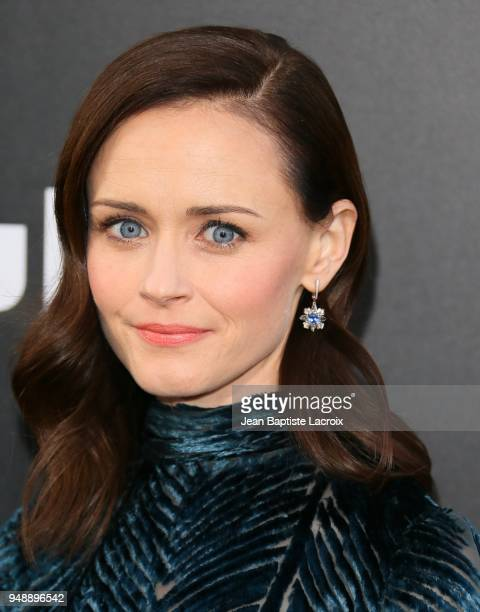Alexis Bledel attends the premiere of Hulu's 'The Handmaid's Tale' on April 19, 2018 in Hollywood, California.