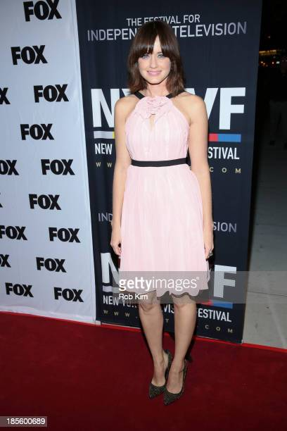 Alexis Bledel attends the 'Us And Them' series screening at SVA Theater on October 22 2013 in New York City