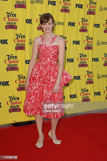 Alexis Bledel during 2005 Teen Choice Awards Arrivals at Gibson Amphitheatre in Universal City California United States