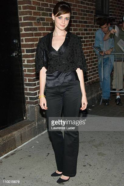 Alexis Bledel during Alexis Bledel and Kevin Spacey Sighting Outside Late Show with David Letterman May 21 2007 at Ed Sullivan Theater in New York...