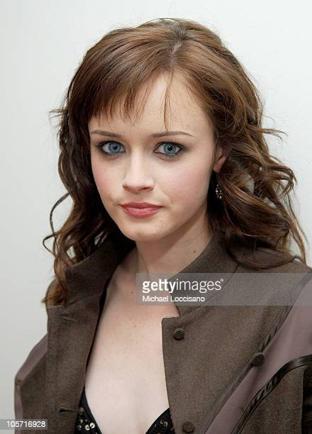 Alexis Bledel during Amber Tamblyn and Alexis Bledel Visit MTV's 'TRL' May 25 2005 at MTV Studios Times Square in New York City New York United States