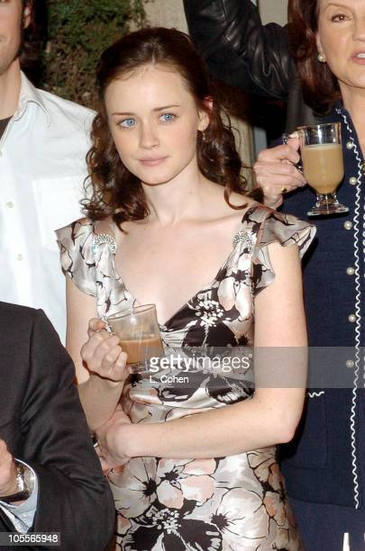 Alexis Bledel during Gilmore Girls 100th Episode Celebration at Warner Brothers in Los Angeles California United States