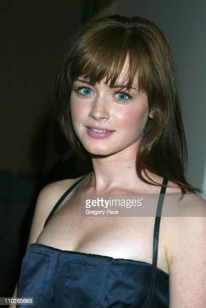 Alexis Bledel during Olympus Fashion Week Spring 2006 Calvin Klein Backstage and Front Row at Milk Studios in New York City New York United States