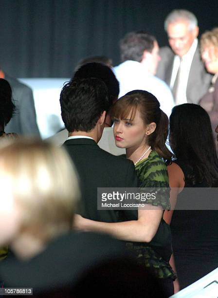 Alexis Bledel during Olympus Fashion Week Spring 2006 Gwen Stefani for LAMB Front Row at Roseland Ballroom in New York City New York United States