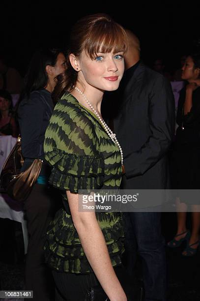 Alexis Bledel during Olympus Fashion Week Spring 2006 Gwen Stefani for LAMB Front Row and Backstage at Roseland in New York City New York United...