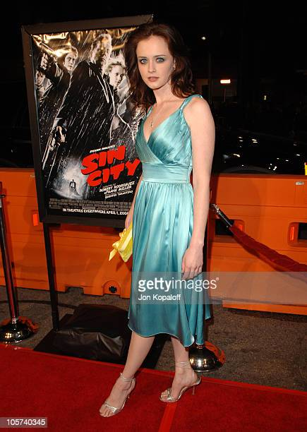 "Alexis Bledel during ""Sin City"" Los Angeles Premiere- Arrivals at Mann National Theater in Westwood, California, United States."