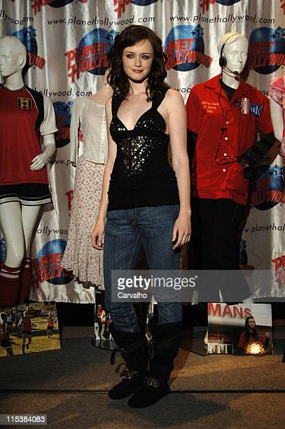 Alexis Bledel during The Cast of The Sisterhood of the Traveling Pants Donates Memorabilia at Planet Hollywood in New York City at Planet Hollywood...