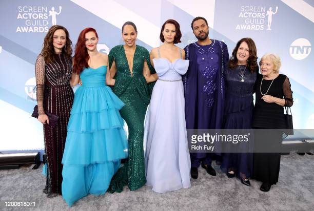 Alexis Bledel Madeline Brewer Amanda Brugel Kristen Gutoskie O T Fagbenle Ann Dowd and guest attends the 26th Annual Screen ActorsGuild Awards at...
