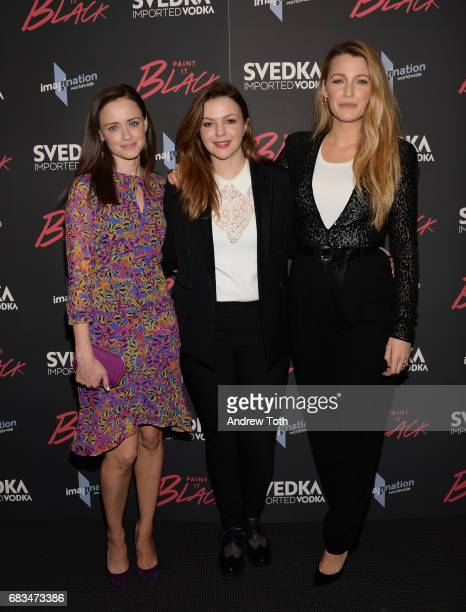 Alexis Bledel writer/director/producer Amber Tamblyn and Blake Lively attend the Paint It Black New York premiere at The Museum of Modern Art on May...