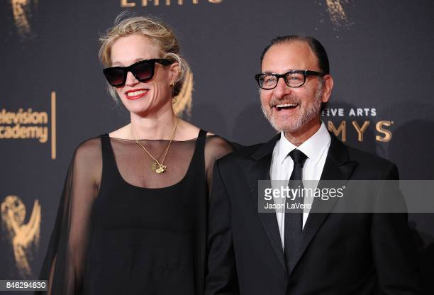 Alexis Bloom and Fisher Stevens attend the 2017 Creative Arts Emmy Awards at Microsoft Theater on September 9 2017 in Los Angeles California