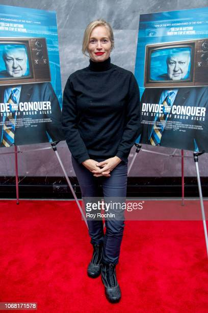Alexis Bloom attends the 'Divide and Conquer The Story of Roger Ailes' New York Premiere at Paley Center For Media on November 15 2018 in New York...