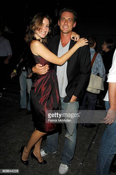 Alexis Bryan and Alexi Lubomirski attend PRADA New York Epicenter Party with Special Performance by THE HOURS at PRADA Soho on September 7 2007 in...