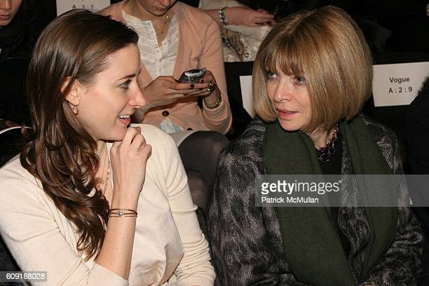Alexis Bryan and Ana Wintour attend Max Azria Fall 2007 Collection at The Tent on February 5 2007 in New York City