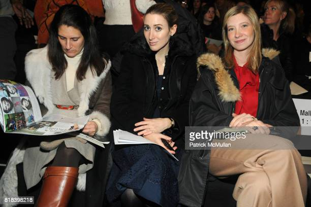 Alexis Bryan and attend MAX AZRIA Fall 2010 Collection at Bryant Park Tents on February 16 2010 in New York City