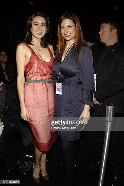 Alexis Bryan and guest attend MAX AZRIA Fall 2008 Collection at The Tent on February 4 2008 in New York City