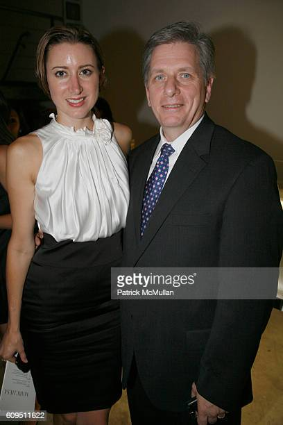 Alexis Bryan and Larry Boland attend PIAGET at MARCHESA Spring 2008 Presentation at Chelsea Art Museum on September 5 2007 in New York