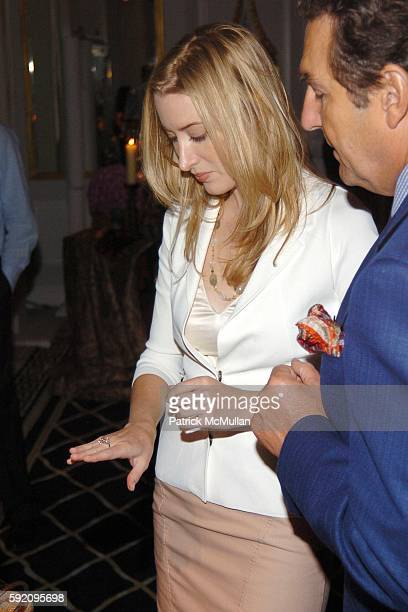 Alexis Bryan and Philippe Schaffer attend HARRY WINSTON 'A Feast For The Eyes' Editors Preview Reception at Harry Winston on September 8 2005 in New...