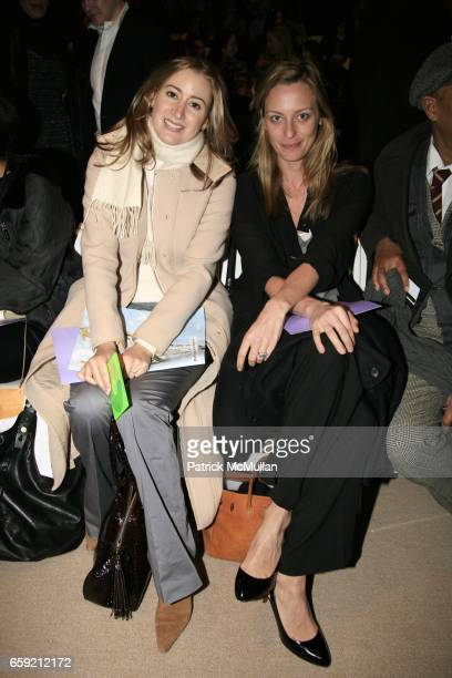 Alexis Bryan Morgan and guest attend HERVE LEGER by MAX AZRIA Fall 2009 Collection at The Tents Promenade on February 15 2009 in New York City