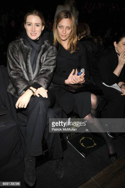 Alexis Bryan Morgan and guest attend MAX AZRIA FALL 2009 COLLECTION at The Tents on February 17 2009 in New York City