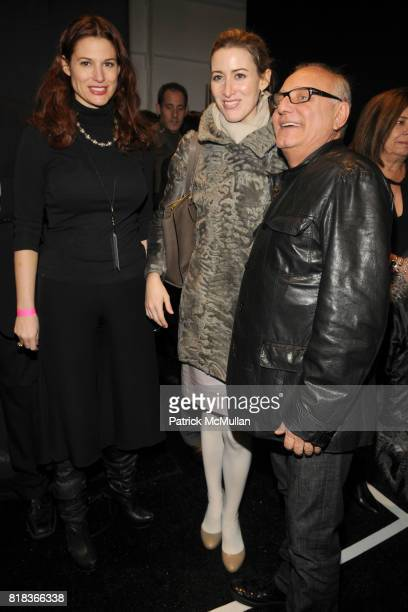 Alexis Bryan Morgan and Max Azria attend HERVE LEGER by Max Azria Fall 2010 Collection at Promenade on February 14 2010 in New York City