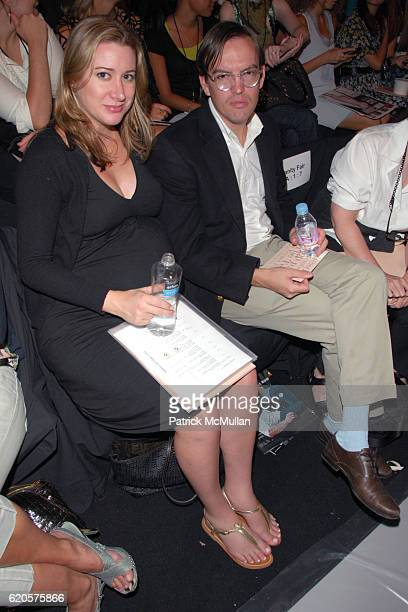 Alexis Bryan Morgan and Spencer Morgan attend MAX AZRIA Spring 2009 Fashion Show at The Tent on September 9 2008 in New York City