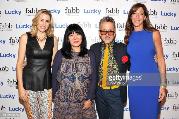 Alexis Bryan Morgan Anna Sui Simon Doonan and Marcy Bloom Lucky VP and Publisher attend Lucky Magazine Hosts FABB Fashion and Beauty Blog Conference...