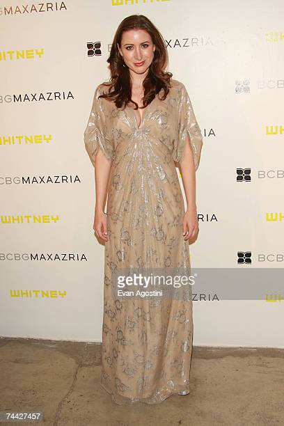 Alexis Bryan wearing Max Azria Atelier attends the fifth Annual Art Party and auction celebrating the Whitney Museum of American Art held at Skylight...