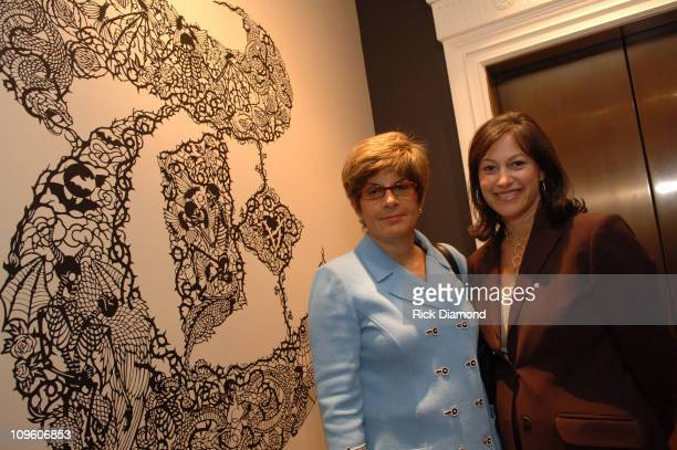 """Alexis Buryk and Denise Warren during """"T Style"""" Magazine Launch Party at Bergdorf Goodman in New York City, New York, United States."""