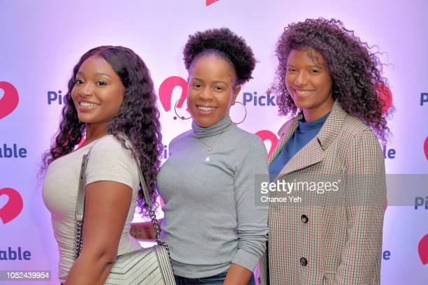 Alexis Chyna and Abigail attend Pickable launch celebration at Beauty and Essex New York City on October 17 2018