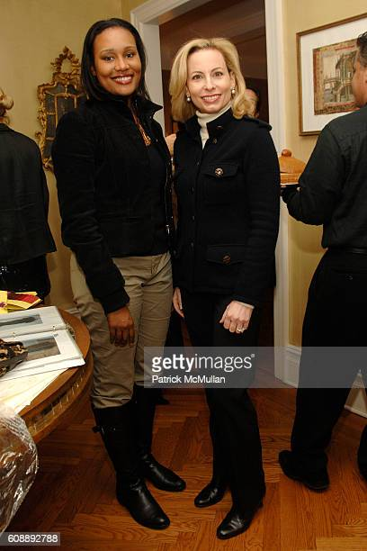 Alexis Clark and Gillian Miniter attend Alexandra Lebenthal Maria Bartiromo Host Cocktails to Honor KIM HICKS at 17 E 96th St on November 19 2007 in...