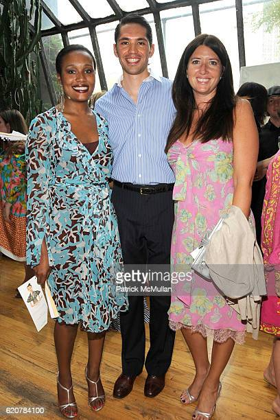 Alexis Clark Edmundo Huerta and Carol Bell attend GLENDA BAILEY And VALERIE STEELE HOST COCKTAILS For ISABEL TOLEDO to Announce Her Award From The...
