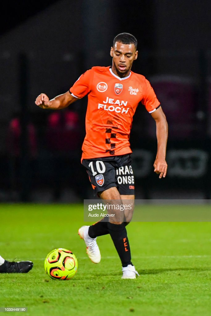 Alexis Claude Maurice of Lorient during the French Ligue 2 match between Red star and Lorient at Stade Pierre Brisson on September 14, 2018 in Beauvais, France.