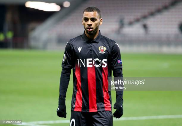 Alexis Claude-Maurice of Nice during the UEFA Europa League Group C stage match between OGC Nice and Bayer 04 Leverkusen at Allianz Riviera stadium...