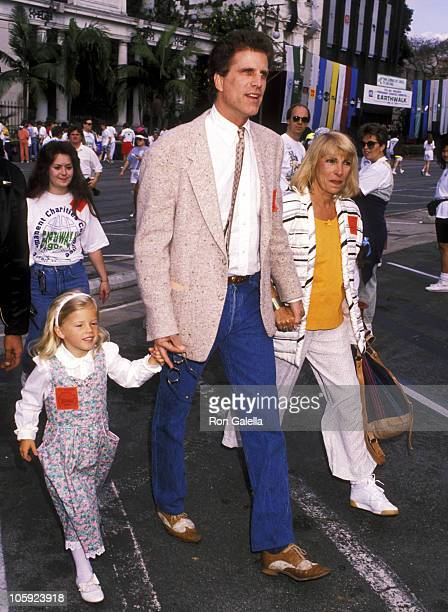 Alexis Danson Ted Danson and Casey Coates during Earthwalk Benefit April 22 1990 at 20th Century Fox Studios in Los Angeles California United States
