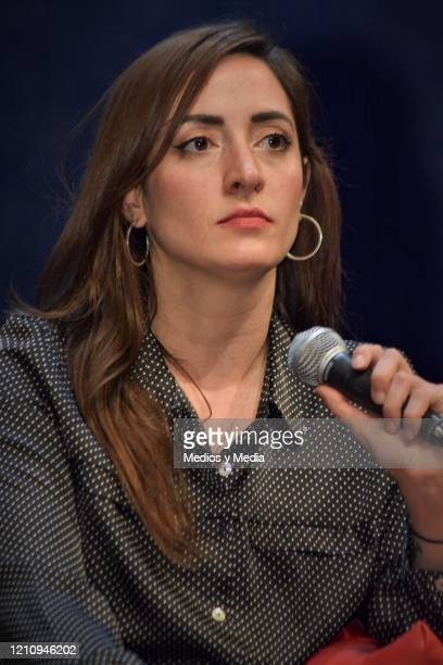 Alexis de Anda speaks to Media as part of the play 'Between Pancho Villa and a Naked Woman' at Rafael Solana Theatre on March 6 2020 in Mexico City...