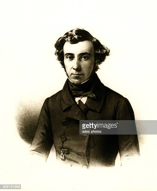 Alexis de Tocqueville French political writer and historian Ca 1850