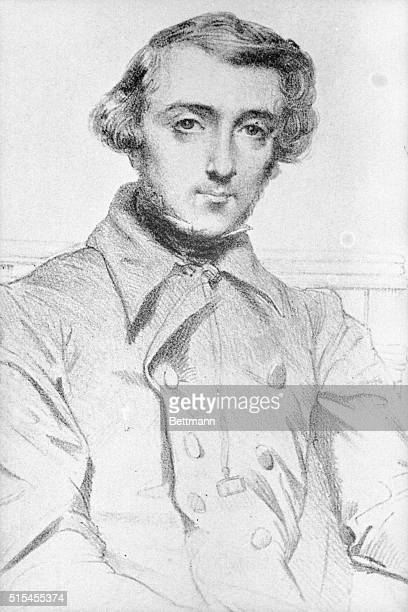Alexis de Tocqueville French statesman After painting by Chasseriau