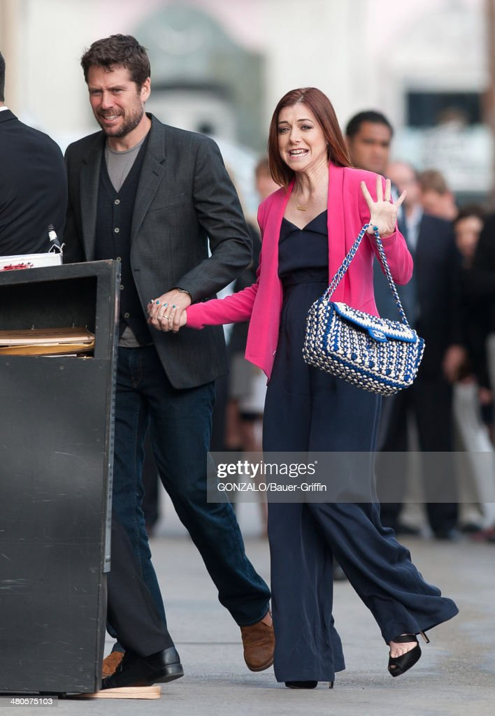 Alexis Denisof and Alyson Hannigan are seen on March 25, 2014 in Los Angeles, California.