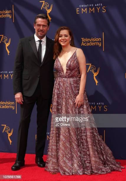 Alexis Denisof and Alyson Hannigan attend the 2018 Creative Arts Emmy Awards at Microsoft Theater on September 8 2018 in Los Angeles California