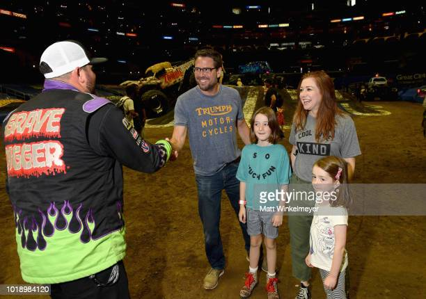 Alexis Denisof Satyana Denisof Alyson Hannigan and Keeva Denisof attends Monster Jam at STAPLES Center on Saturday August 18 2018 in Los Angeles CAa