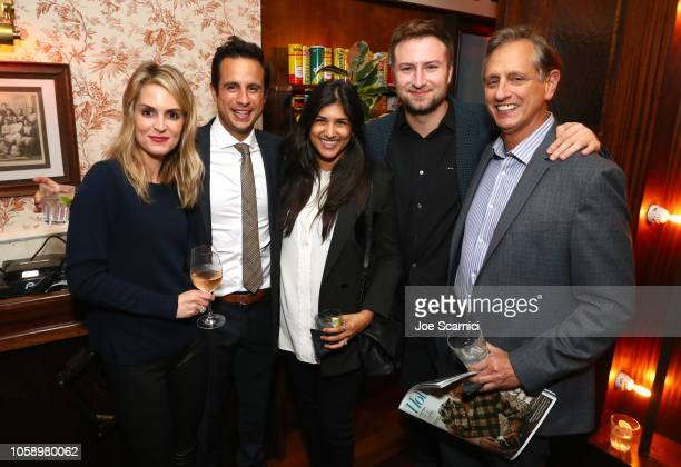 Alexis Draizin Ryan Draizin Christine D'Souza Gelb David Gelb and Doug Draizin attend The Hollywood Reporter's Next Gen 2018 Celebration at 40 LOVE...