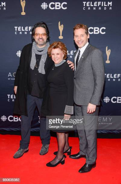 Alexis DurandBrault Denise Filiatrault and Gabriel Sabourin arrive at the 2018 Canadian Screen Awards at the Sony Centre for the Performing Arts on...