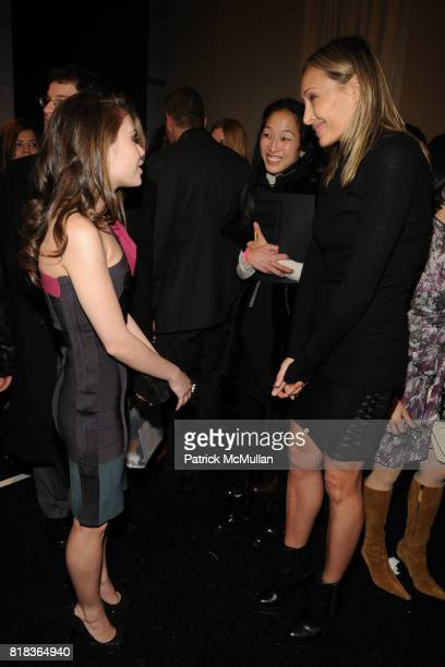 Alexis Dziena and Lubov Azria attend HERVE LEGER by Max Azria Fall 2010 Collection at Promenade on February 14 2010 in New York City